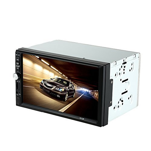 KKmoon Universal 7'' Inches Double-Din In-Dash HD Car Radio MP5 BT Radio Entertainment Multimedia Player and Receiver with Rear View Camera by KKmoon (Image #1)