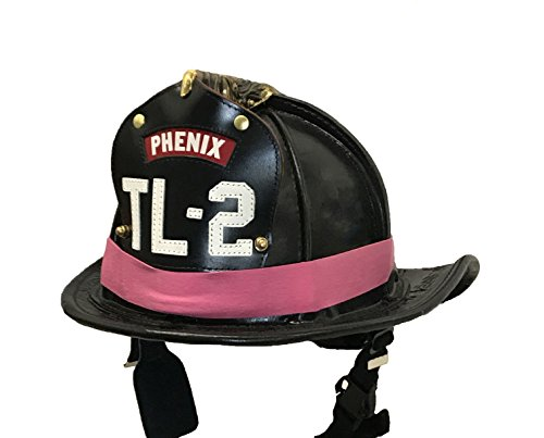 Pink Fighters (LINE2design PINK Firefighter Rubber Helmet Bands For Modern & Traditional Style Fire Helmets Loose 3Pk)