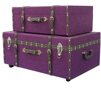 Dark Purple Texture - Collegiate Trunks - Set of 2