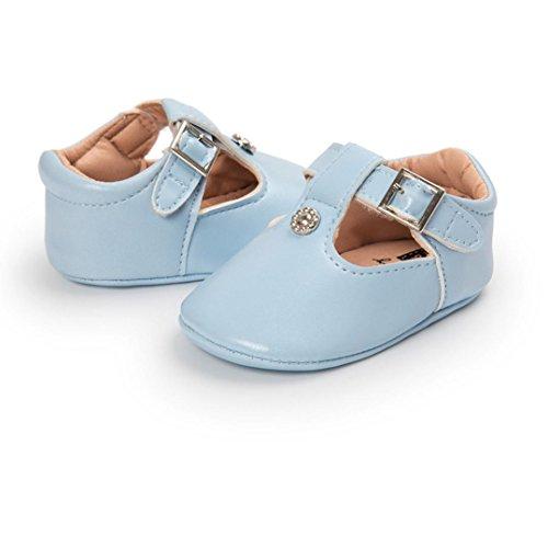 Clode® Baby Mädchen Schuhe Leder Sole Krippe Kleinkind Rutschsicheren Baby Schuhe Sky Blue