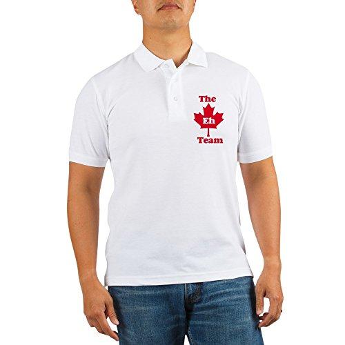 CafePress - The Eh Team Golf Shirt - Golf Shirt, Pique Knit Golf Polo Distressed Maple Finish