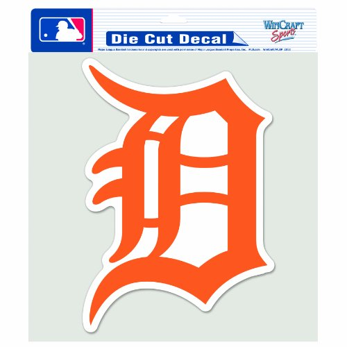 MLB Detroit Tigers 8-by-8 Inch Die Cut Colored Decal