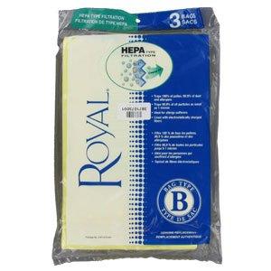 Dirt Devil / Royal Vacuum Cleaner Bags Type B Hepa 3pk # 3871075001 (Royal B Vacuum Bags compare prices)