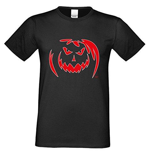 T-Shirt - Böser Halloween Kürbis - gruseliges Motiv Shirt für Leute mit Humor