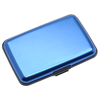 Aluma Cartera Tarjetero Bloqueo RFID - Color Azul