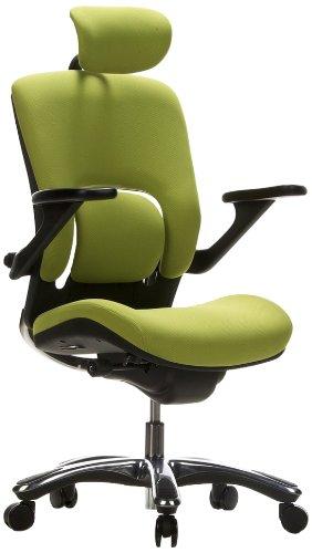 Hjh OFFICE 652070 Chaise De Bureau Haut Gamme Fauteuil Direction VAPOR LUX Vert