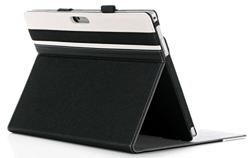 ProCase Surface Pro 6/Surface Pro Case 2017/ Pro 4/Pro LTE Case - Premium Folio Cover Case for Microsoft Surface Pro 6 / Surface Pro 2017/Pro 4 / Pro LTE, Compatible with Type Cover Keyboard -Black