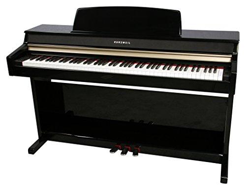 Kurzweil MP10F 88-Key Student-Model Digital Piano with Fatar Hammer Action Keybed, Black Polish