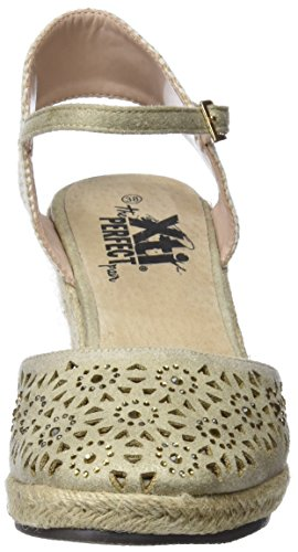 48049 Plataforma Gold para Mujer con XTI Zapatos Dorado aB4PB