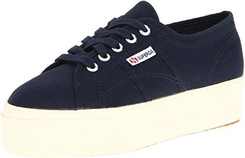 Superga Women's 2790 ACOTW Platform Sneakers, Navy, 10 B(...
