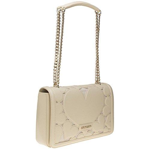 Love Moschino Chain Heart Womens Handbag Natural by Love Moschino (Image #1)