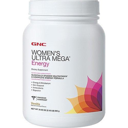 GNC Womens Ultra Mega Energy - Vanilla 2.18 lbs.