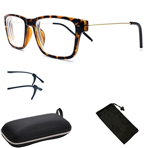 (#NS-SQU) 1 Pair Nearsighted Myopia Lens Rectangle Shape Metal Wired Optical Frameless Glasses (These Are Not Reading Glasses)