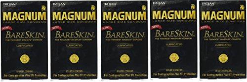 Trojan Magnum Bareskin Lubricated Condoms AMLpCT, 50 Count by Trojan
