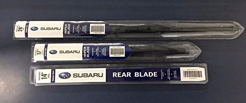 (2015-2018 Subaru Outback Front & Rear Windshield Wiper Blades Set Genuine All)