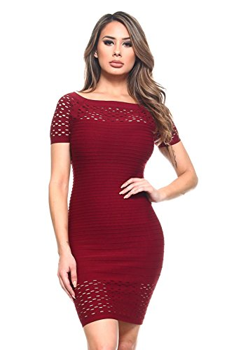 - Yelete SML609 (Wine Red, Large) Women's Party Dresses