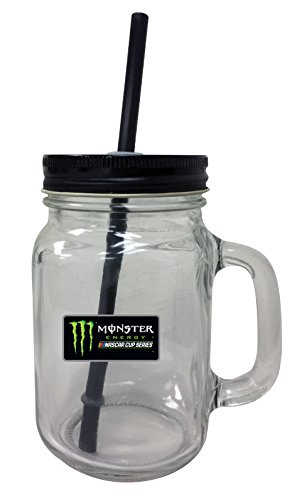 Monster Energy NASCAR Mason Jar Glass Tumbler by R and R Imports (Image #1)