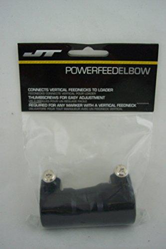 Straight Feed Thumb Screw Elbow - Black