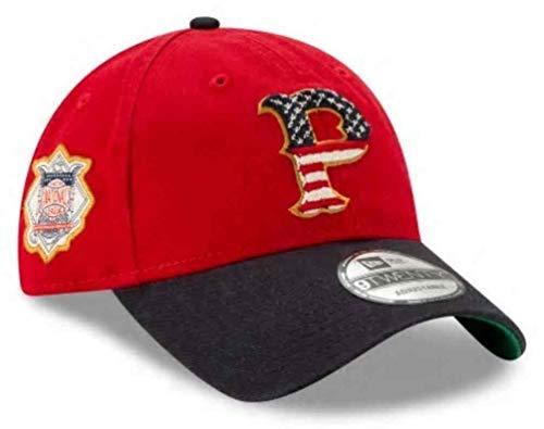 New Era 2019 MLB Pittsburgh Pirates July 4th Flag Baseball Cap Hat 9Twenty 920 Red/Navy