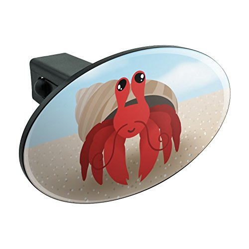 Sweet Hermit Crab Oval Tow Hitch Cover Trailer Plug Insert 1 1/4 inch (1.25