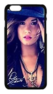 Alexgeorge Custom Design Demi Lovato With HaT Fashion Case For Iphone 6 Plus(5.5 inch)