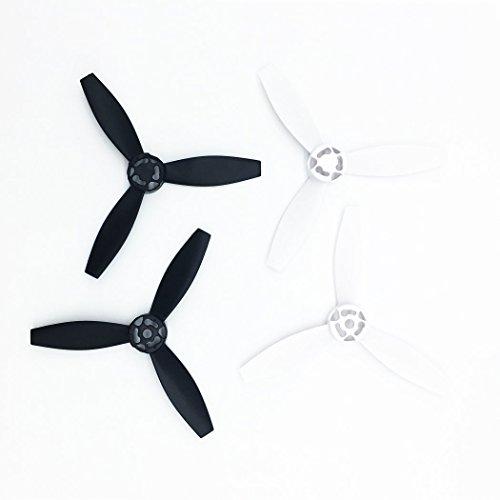 PENIVO 4pcs/set Nylon Plastic Propellers Props Rotor for Parrot Bebop 2 Drone Quadcopter Parts Main Blades Black & White