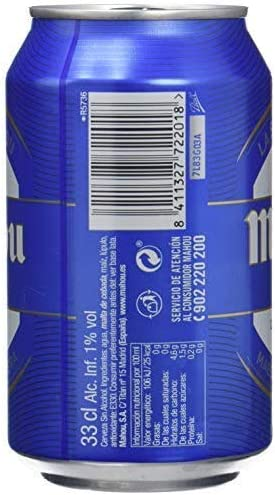 Mahou Cerveza sin Alcohol Dorada Lager, 12 x 33cl: Amazon.es ...