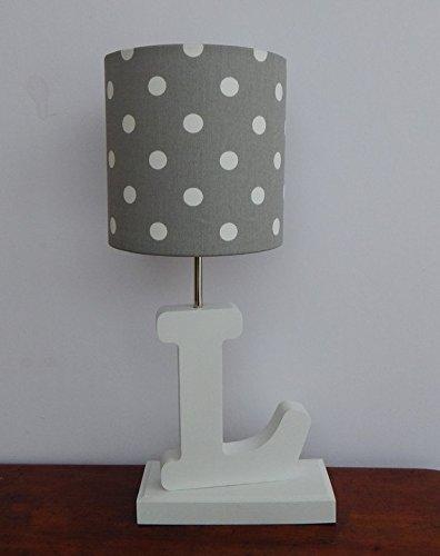 Grey with White Polka Dots Lamp Shade