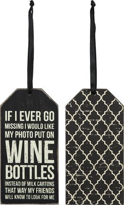 Bottle Tag - ''Wine Bottles'', Set of 3