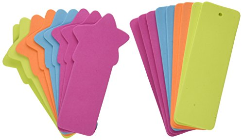 Foam Bookmarks Assorted Bright Colors