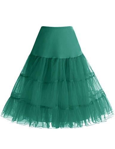 50 Green Rockabilly Choisir Jupon Bbonlinedress Style Femme anne Dark 4 Jupon Tailles AUwnIpqcTn