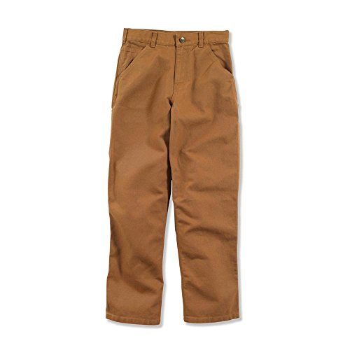 Carhartt Big Boys' Adjustable Waist Dungaree Pant, Carhartt Brown, 12