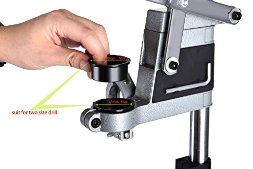 AMYAMY Electric Drill Bench/Drill Press Stand with Drill Press Vise/Drill Stand Rotary Tool Work Station Floor Repair Tool Clamp for Drilling,drill Press Table,Drill Holder (Size-Cast iron base) by AMYAMY (Image #5)