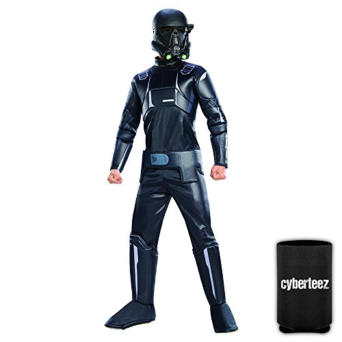 Star Wars Rogue One Kids Child Deluxe Death Trooper Padded Jumpsuit Costume + Coolie (Adult Deluxe Death Trooper Costumes)
