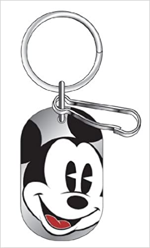 Mickey Mouse Classic Expression Dog Tag Key Chain