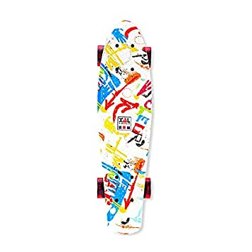 Nghvnm Moda Mini Plástico Skate Board 4 Ruedas Fish Skateboard Scooter Cruiser Brush Street Board para Niños Adultos: Amazon.es: Deportes y aire libre