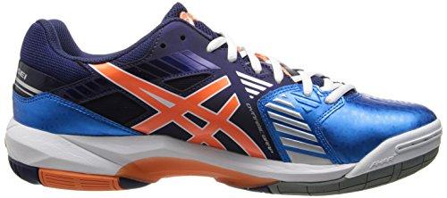 Asics Mens Gel-sensei 5 Chaussure De Volley-ball Bleu / Blanc / Orange