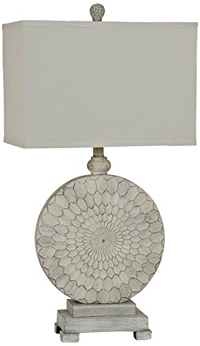 Crestview Collection Sun Dance Cream Cake Table Lamp by Crestview Collection