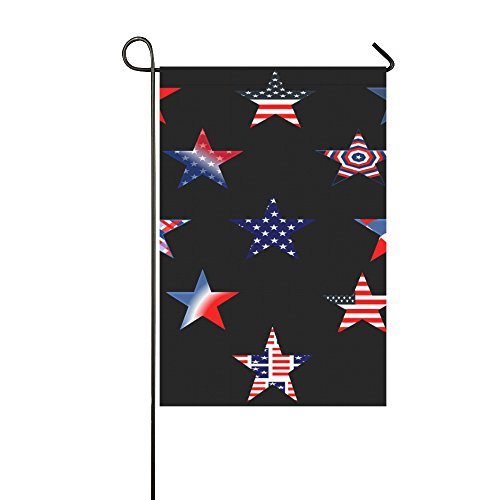 Home Decorative Outdoor Double Sided Star Red White Blue Ame