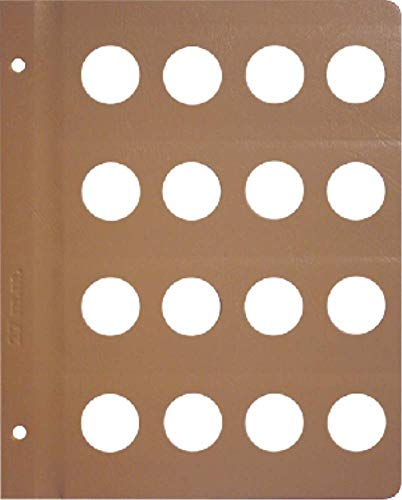Dansco Blank Album Page for 27mm Coins