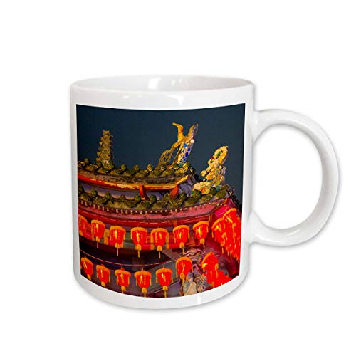 3dRose Danita Delimont - Taiwan - Cixian Temple dedicated to Matsu in Shilin, Taipei, Taiwan - 11oz Two-Tone Black Mug (mug_312808_4) (Best Architecture In Taipei)