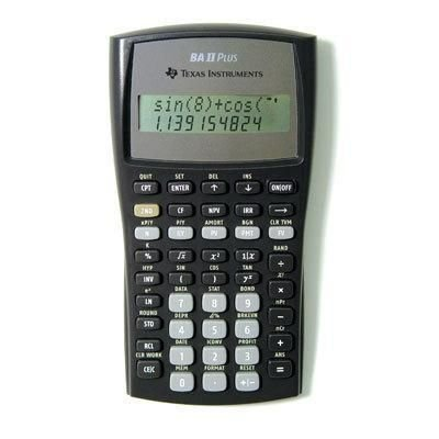 Consumer Electronic Products Texas Instruments BAIIPLUS - BAIIPlus Financial Calculator, 10-Digit LCD-TEXBAIIPLUS Supply Store