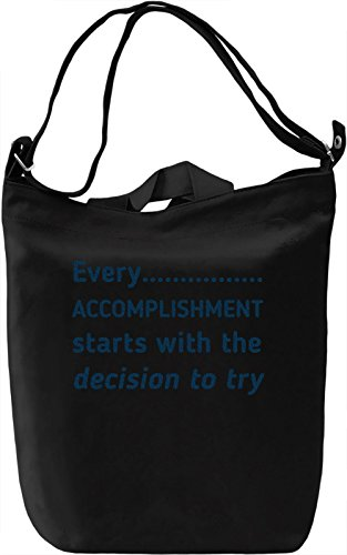Always Try Borsa Giornaliera Canvas Canvas Day Bag  100% Premium Cotton Canvas  DTG Printing 