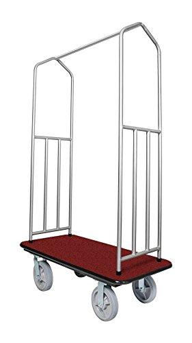 Chrome Bellman's Cart with Red Deck by Evania Luigi Brigitte