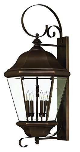 - Hinkley 2406CB Traditional Four Light Wall Mount from Clifton Park collection in Copperfinish,