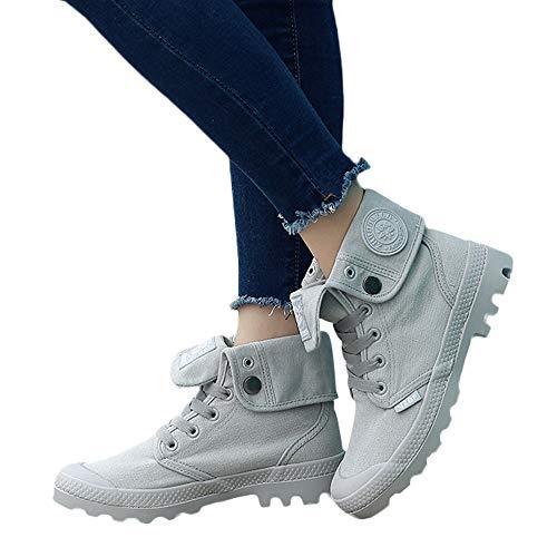 Toile Lacets Avec Militaire Chaussures Plates Sport Haut Femmes Pour De En Talon wqgRBXZq