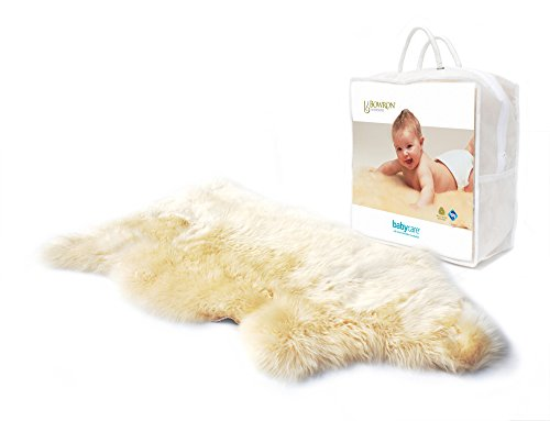 Lambswool Rocker Dog - Sheepskins Natural Baby Blanket / Comforter - Unshorn Bowron Sheepskin Blanket