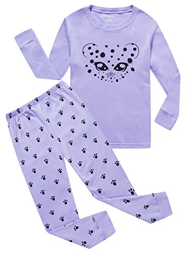 Girls Pyjama Set - MMII pajamas Cat Little Girls' Cotton Sleeper Pajamas Set 2 Piece Sleepwears Pjs Size 7