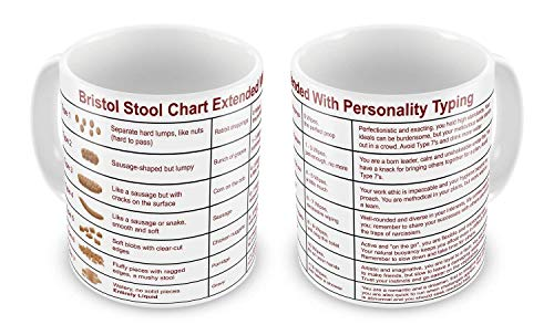 Funny Mug Bristol Stool Chart Extended With Personality Typing Novelty Doctor Nurse Carer Gift Mug