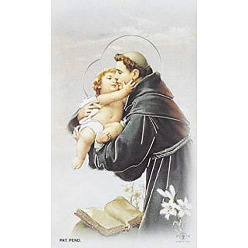 One Full Sheet 8 Blank Back St Anthony Paper Holy Cards ()